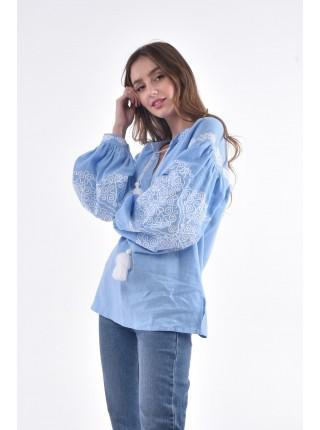 Сорочка «Морозець» блакитна