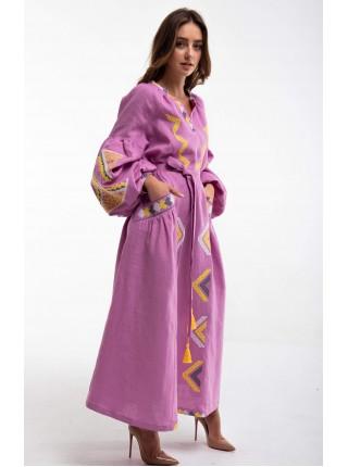Сукня вишита Вирій, рожева