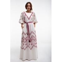 Сукня Росинка вишита біла