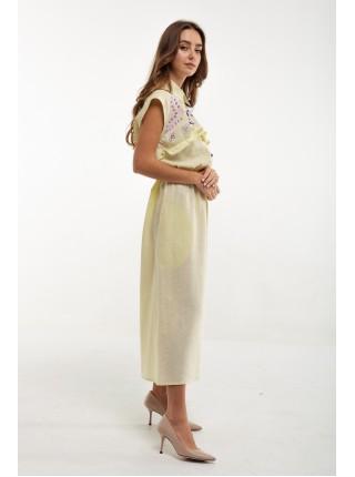 Сукня вишита Суцвіття жовта