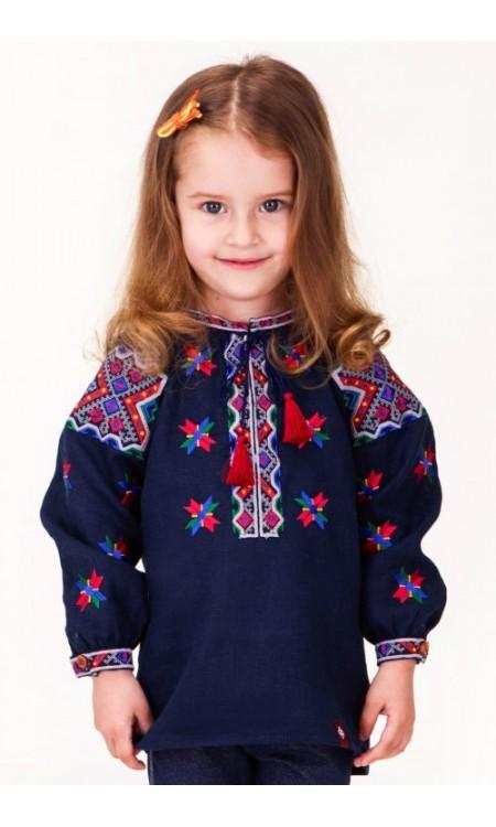 Дитяча вишиванка  в синьому кольорі