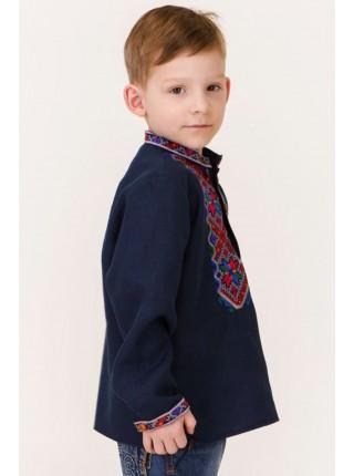 Вишиванка для хлопчика в синьому кольорі