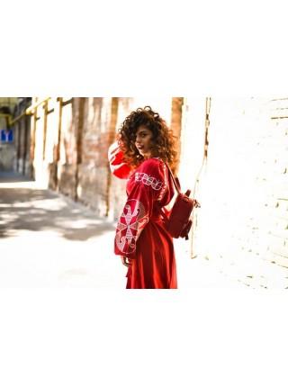 Сукня вишиванка «Веснянка» червона