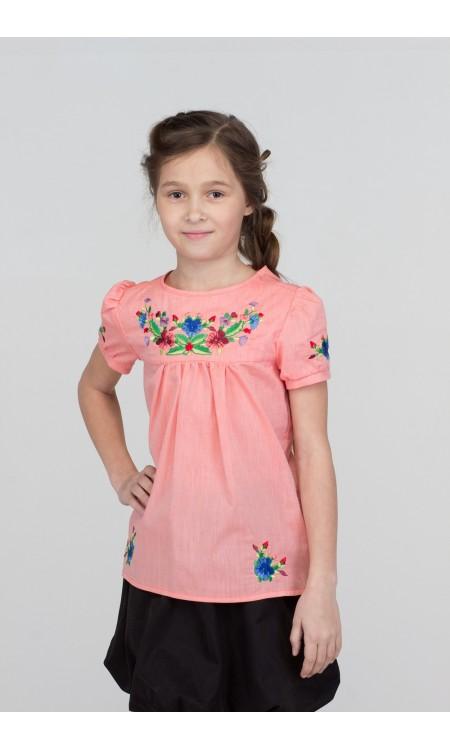 Туніка-Вишиванка для дівчинки, рожева