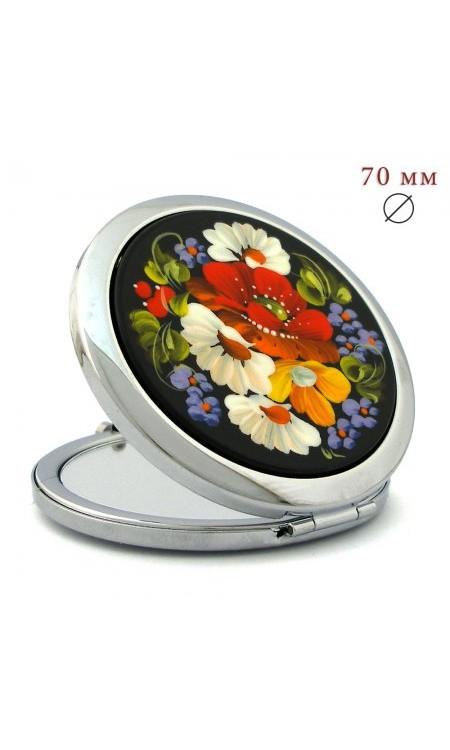 Kишенькове дзеркальце з квітами