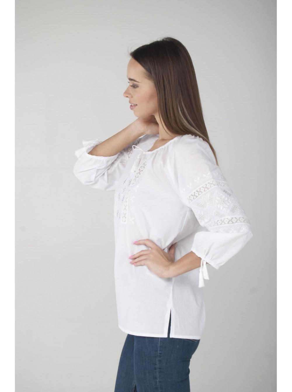 Жіноча вишиванка біла по білому cc16527ffb14f