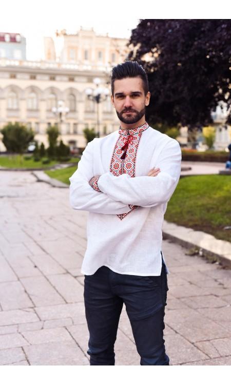 """Чоловіча лляна вишиванка """"УКРАЇНСЬКА РОДИНА"""""""