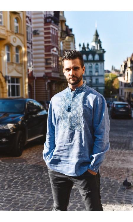 Чоловіча вишиванка, кольору джинс
