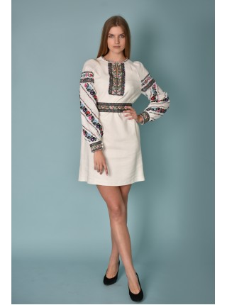 Сукня лляна, біла