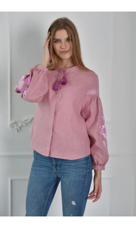 Рожева вишиванка