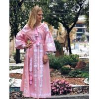 Рожева вишита сукня