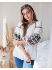 Чарівна жіноча вишиванка, біла
