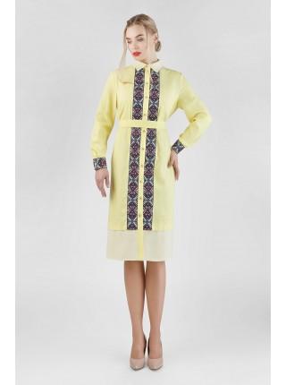 Сукня-сорочка ніжного жовтого кольору