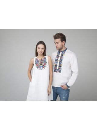 Білосніжна лляна сукня та Чоловіча вишиванка Pair4