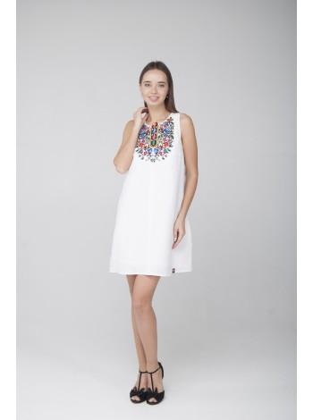 лляна сукня з вишивкою