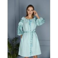 Лляна сукня, блакитна