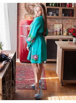 Лляна вишита сукня Троянда