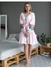 Лляна сукня Троянда, рожева